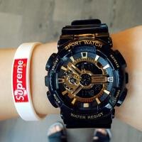三达表潮流多功能电子手表双显防水男女潮人运动手表