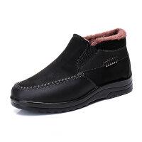 老北京布鞋男棉鞋中老年爸爸棉靴子加厚保暖加绒男士短靴冬季