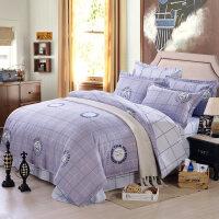 四件套磨毛加厚三件套床上用品被套床单被罩学生宿舍1.2米床上下
