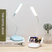 led小台灯护眼学习书桌学生宿舍卧室床头灯可充电插电两用夜读灯