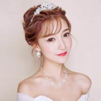 新娘头饰婚礼皇冠项链耳饰三件套装结婚发饰婚纱首饰品