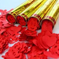 婚庆手持礼炮彩带礼花筒礼花弹 婚礼开业礼宾花瓣结婚用品