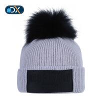 【年货节:76元】Discovery非凡探索户外秋冬新品男女保暖休闲针织帽EELG92132