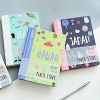 笔记本文具本子韩国小清新简约加厚硬面本厚学生用硬皮创意大学生笔记本