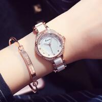 金米欧简约陶瓷手链手表正品 女学生表潮流时尚女表石英表