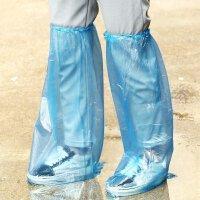 户外雨天防水高筒一次性鞋套 加厚耐磨雨靴套男女士骑车防雨鞋套