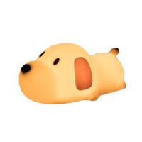充电可爱小狗伴睡灯创意卡通插电小夜灯床头婴儿喂奶卧室睡眠硅胶