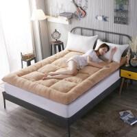 榻榻米床垫子1.5m床1.8m床2米双人床褥子单人0.9学生宿舍寝室垫被 驼色 羊羔绒加厚10cm