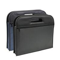 文件包帆布文件袋男士手提A4公文袋拉链会议袋多层防水加厚资料包
