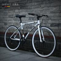 变速自行车男公路单车赛车双碟刹实心胎学生女式荧光