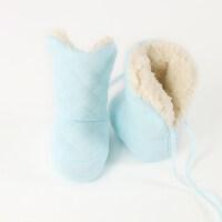 0-12个月秋冬厚男女宝宝新生婴儿童地板鞋袜子松口防滑底 S码(底长约12CM)建议年龄0-12个月