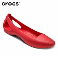 Crocs凉鞋女夏 平底卡骆驰新款仙安娜休闲鞋女单鞋 韩版|202811 女士仙安娜平底鞋