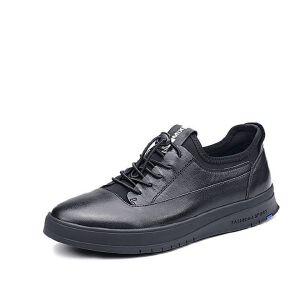Teenmix/天美意2017秋专柜同款牛皮/织物舒适平跟男休闲鞋2DB01CM7