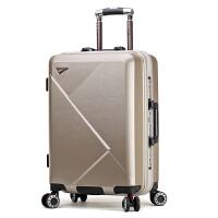 行李箱男防刮耐磨拉杆箱万向轮PC旅行箱女20寸登机箱子皮箱密码箱