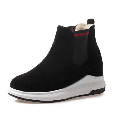 WARORWAR法国2019新品YG14-b18-76冬季休闲反绒平底鞋舒适女鞋潮流时尚潮鞋百搭潮牌靴子马丁靴短靴