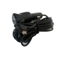 行车记录仪电源线车充点烟器12v转5v充电器带usb插口