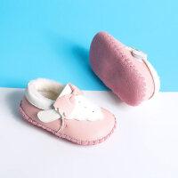 秋冬男女宝宝学步棉鞋0-1岁婴儿鞋子步前鞋室内软底鞋新生儿单鞋
