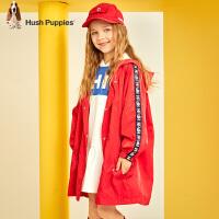 【2件5折价:178.5元】暇步士童装女童外套春季新款宝宝洋气连帽上衣中大童儿童风衣
