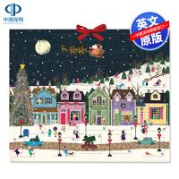 冬季仙境降临历 日历 英文原版Winter Wonderland Advent Calendar 儿童趣味翻翻书 圣诞节