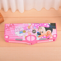授权 多功能变形文具盒学生铅笔盒大容量塑料系列 粉色 米妮