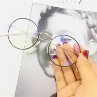 网红街拍同款小圆镜近视眼镜框架装饰自拍眼睛光学架圆形网红眼镜
