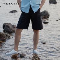 【1件4折到手价:86】MECITY男装夏季新款时尚休闲中裤男士潮流短裤男