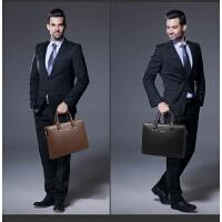 时尚休闲男包商务包男士手提包横款皮包电脑包户外包包潮