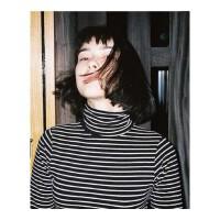 高领打底衫女大码条纹长袖T恤女学生2018新款早秋韩版百搭小衫潮