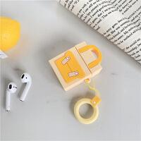 糖果色背包AirPods耳机套防摔硅胶保护套日韩国女款个性创意ins风 黄色背包 耳机套+手绳