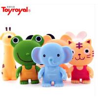 皇室Toyroyal 婴儿捏响软胶动物组宝宝抓握可发声捏捏叫玩具