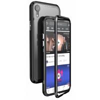 新款【双面玻璃】全包万磁王苹果x手机壳iPhone xs max前后玻璃透明网红壳xr潮牌i7防摔金 【背面玻璃】苹果