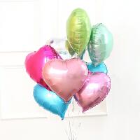 18寸心形气球 爱心铝膜气球 婚庆party装饰10寸铝膜爱心气球