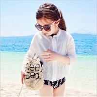 2016韩版儿童泳衣 女童游泳衣 比基尼 女童防晒衣 三件套儿童泳装