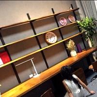 实木书桌书架置物架组合电脑桌搁板一字板书桌简约复古隔板置物架 其他