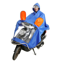 加大加厚摩托车电瓶车雨衣 牛津布大帽檐雨披