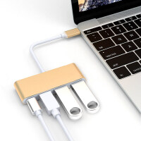 苹果笔记本USB-C扩展坞Type-c转换器USB3.0接口PD充电雷电3转接头戴尔惠普联想Thin 其他