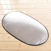 电动车摩托车反光垫隔热片防晒坐垫片座垫套 电瓶车防水隔热遮阳SN7822 银色-