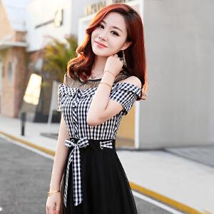 夏季连衣裙套装女2018新款吊带裙子搭配牛仔衬衫时髦修身两件套潮