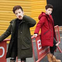 男童棉衣新款冬装儿童羽绒中长款外套童装中大童男孩棉袄