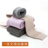 冬季儿童保暖裤男女童打底棉毛裤加绒加厚宝宝夹棉裤子