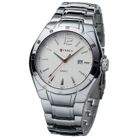 CURREN 卡瑞恩8103日历防水石英时尚男士手表 大表盘流行腕表