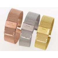 不锈钢表带表链 织网钢带16 18 20 22mm男 女薄款