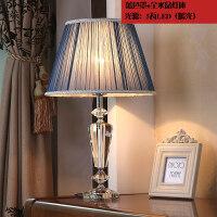现代时尚水晶台灯卧室床头客厅灯饰灯具温馨浪漫蓝色结婚创意