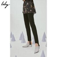 SMART系列Lily春新款女装黑色修身显瘦踩脚裤118340C5208
