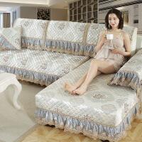 欧式冬季沙发套 冬季防滑沙发垫现代简约沙发套全包�f能套坐垫子罩巾布艺四季通用
