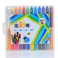 卓峰 水溶炫彩棒24色(颜色图案随机)ZF9906可水洗彩色画画笔儿童文具幼儿园画笔绘图涂鸦粗杆小学生水彩笔 当当自营
