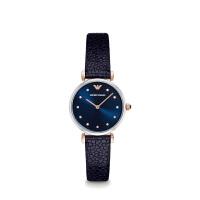 阿玛尼(Emporio Armani)手表皮质表带休闲时尚石英女士腕表AR1989