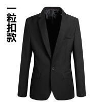 男士小西服韩版修身商务休闲职业正装青少年秋季工作英伦西装外套