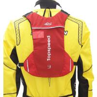 骑行背包双肩包骑行包男 女越野跑步背包马拉松水袋背包超轻不晃 498# 红色