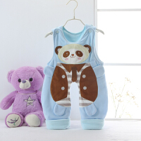 婴儿背带裤春秋薄棉1岁宝宝男女新生儿0秋冬3夹棉6保暖12个月